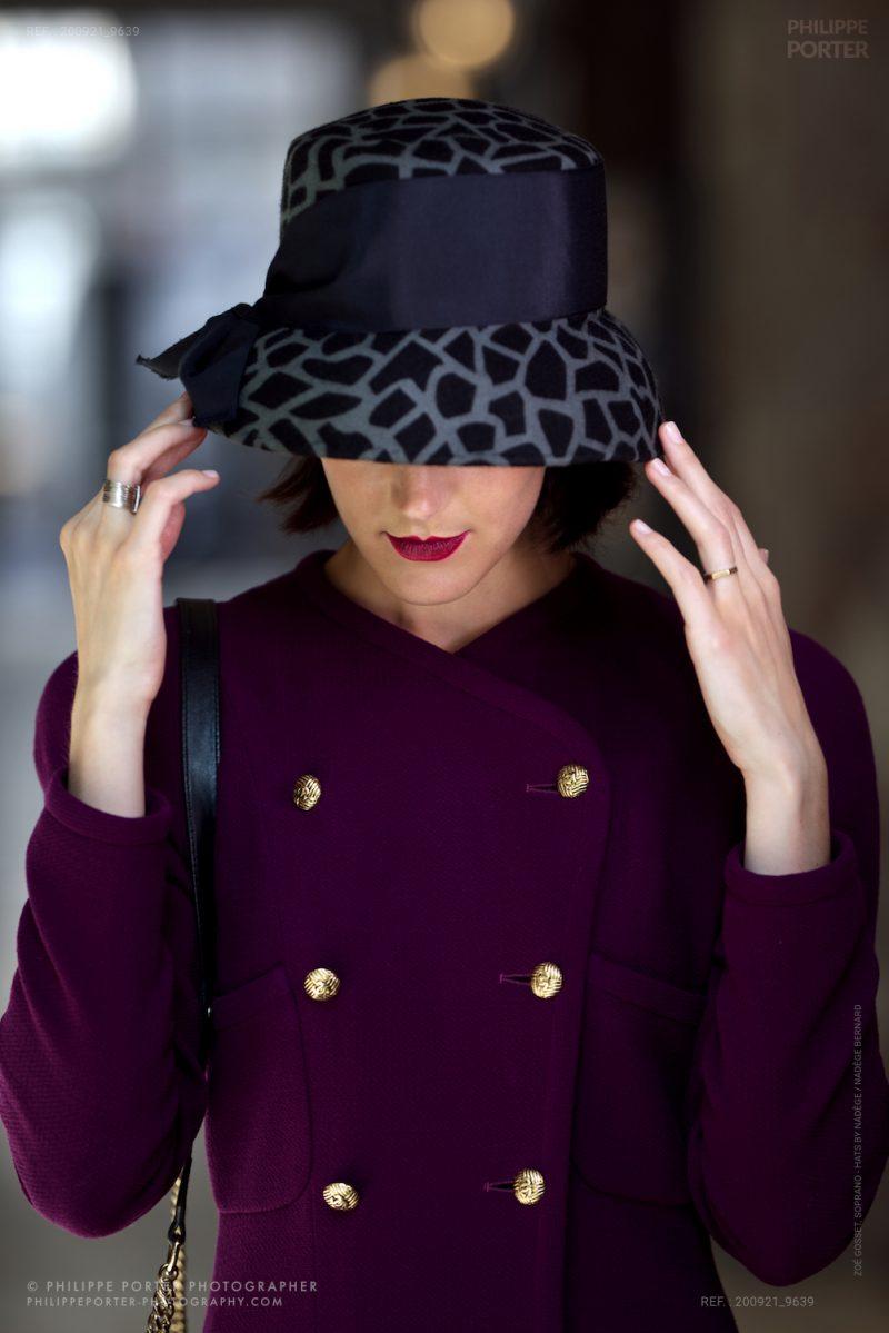 Zoé Gosset, Soprano - Hats by nadège / Nadège Bernard